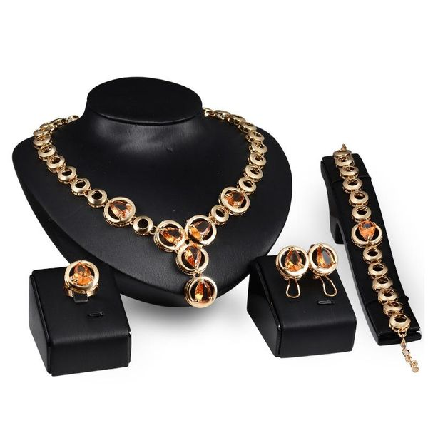 Womens Rhinestone Alloy Jewelry Sets NHXS127417