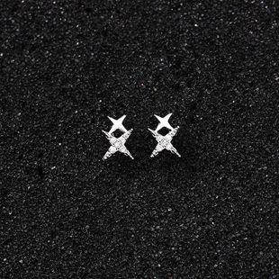 Womens Star Zircon Copper Earrings NHMS127425's discount tags