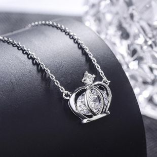 Womens Crown Plating Alloy Regent Necklaces NHLJ127427's discount tags