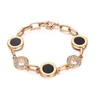Womens geometric rhinestone-studded alloy Regent jewelry Bracelets & Bangles NHLJ127426's discount tags