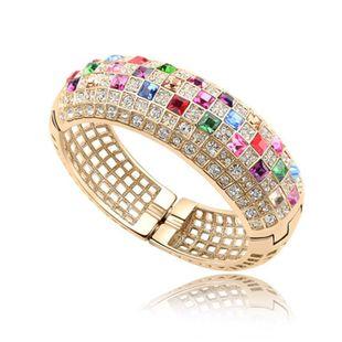 Womens Floral Alloy Osa Bracelets & Bangles NHLJ127428's discount tags