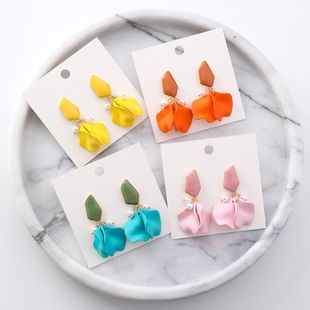 Womens Floral Seaside holiday petals Acrylic Earrings NHMS127443's discount tags