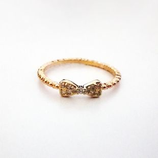 Womens Bow Electroplating Copper Regent Rings NHLJ127462's discount tags