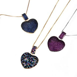 Fashion copper micro-plated alloy-plated rhodium-plated rhomboid necklace NHBP127482's discount tags