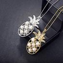 Womens fruit plating alloy Pineapple beads long necklace NHLJ127329