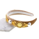 Womens Floral Plating Alloy Hair Accessories NHNT127332