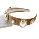 Womens geometric plating alloy Hair Accessories NHNT127333