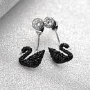 Womens Swan Plating Alloy Earrings NHLJ127459
