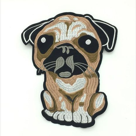 New multi-color felt bottom computer embroidery puppy cloth stickers NHLT127504's discount tags