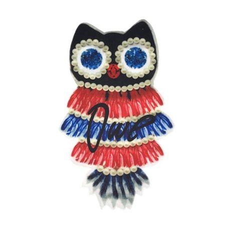 5-color owl patch DIY NHLT127509's discount tags