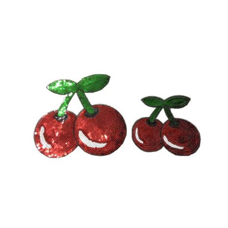 Cute cherry cloth stickers sequins embroidered cloth stickers NHLT127512's discount tags