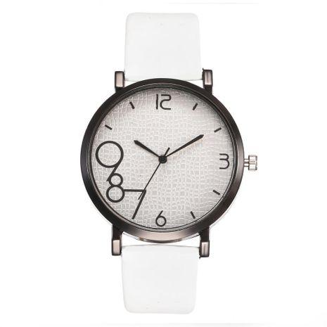 Creative dial quartz belt female models NHHK127539's discount tags
