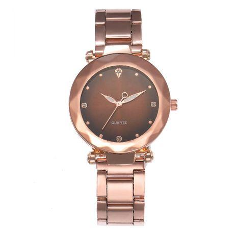 Fashion Leopard Eye Studded Alloy Steel Band Ms. Quartz Wrist Watch NHHK127559's discount tags