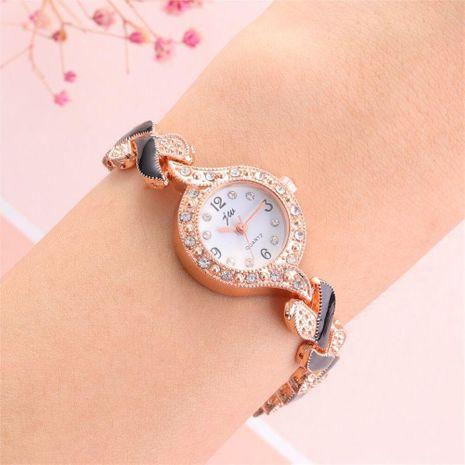 Simple digital colorful steel belt alloy quartz watch NHHK127560's discount tags