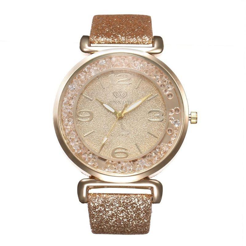 Luxury Rhinestone Quicksand Digital Quartz Wrist Watch NHHK127570
