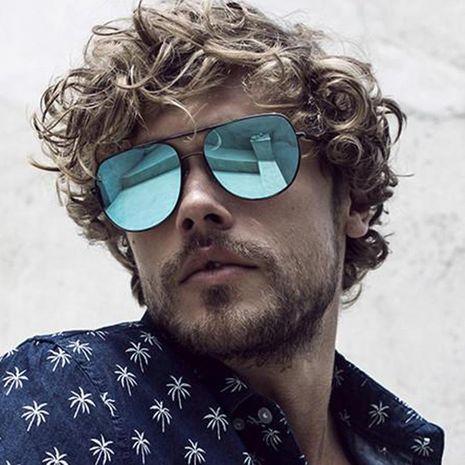 European and American retro metal double beam sunglasses NHKD127586's discount tags