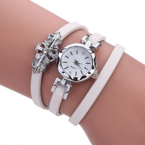 Pendant three-ring winding rhinestone ladies bracelet watch NHHK127588's discount tags