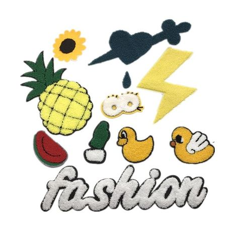 Towel embroidered pineapple duck English embroidered accessories NHLT127621's discount tags