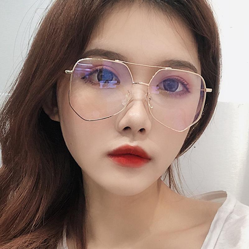 Gray ant glasses frame double beam trend female big box NHKD127633