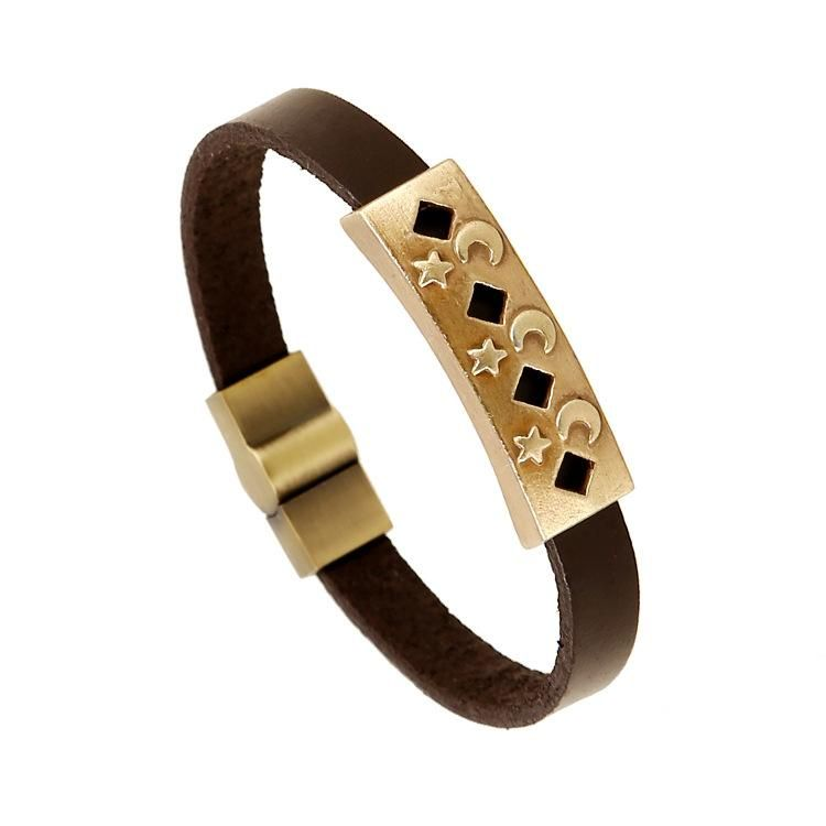 Fashion hollow alloy leather Bracelets & Bangles NHPK127688