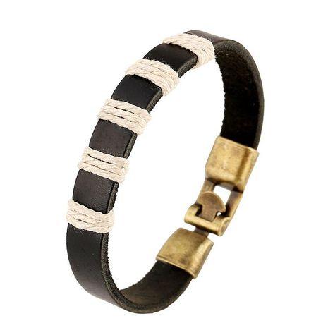 Unisex geometric Weaving leather Bracelets & Bangles NHPK127715's discount tags