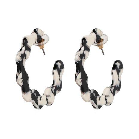 Womens C Type Acrylic sheet resin Earrings NHJJ127719's discount tags