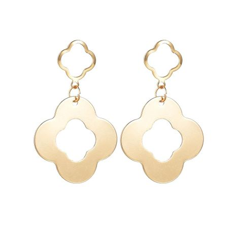 Fashion creative openwork flowers Alloy Earrings NHBQ127727's discount tags