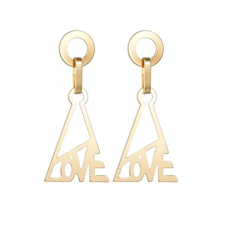 Womens Alphabet / Number / Text Plating Alloy Earrings NHBQ127729's discount tags