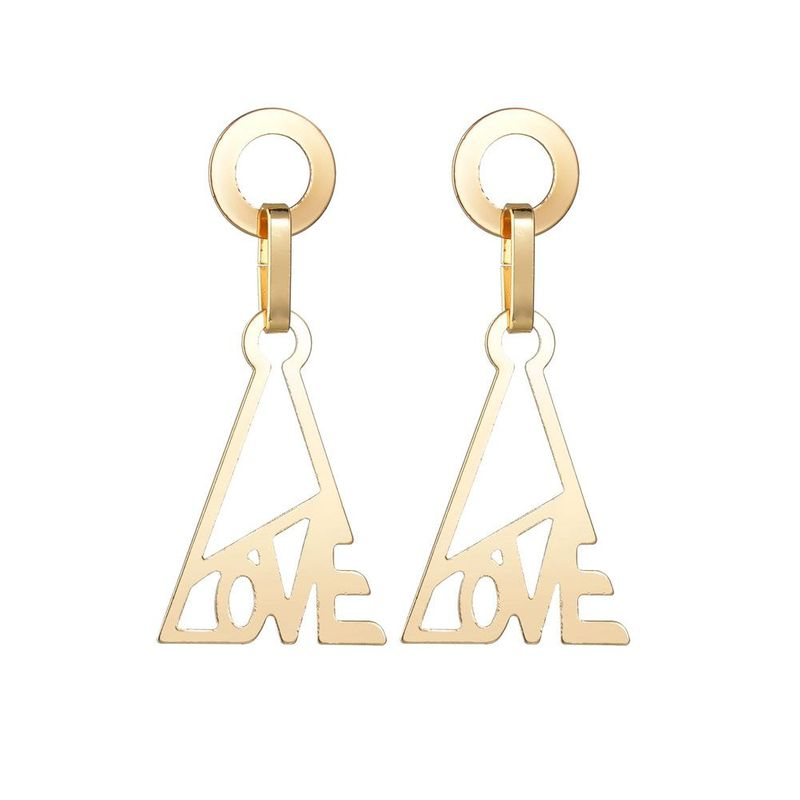 Womens Alphabet / Number / Text Plating Alloy Earrings NHBQ127729