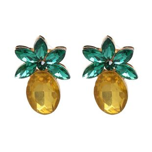 Womens Pineapple Glass series Earrings NHJJ127732's discount tags