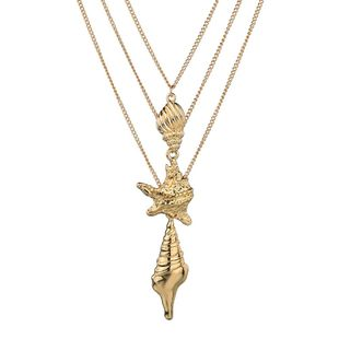 Womens Conch Starfish Plating Alloy Necklaces NHBQ127762's discount tags