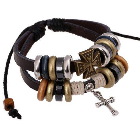 Unisex geometric leather Bracelets & Bangles NHPK127769's discount tags