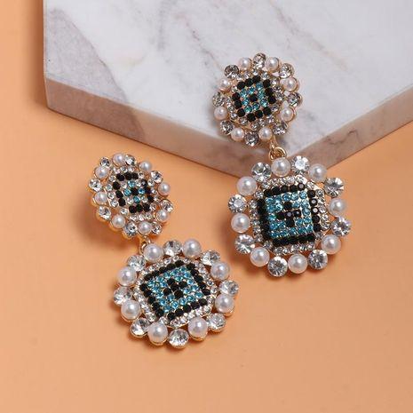Womens Geometric Colored rhinestone Alloy Earrings NHJJ127778's discount tags