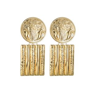 Womens Geometry Electroplating Alloy Earrings NHBQ127787's discount tags