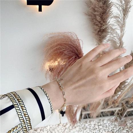 Creative copper zircon Copper  Bracelets & Bangles NHWF127789's discount tags