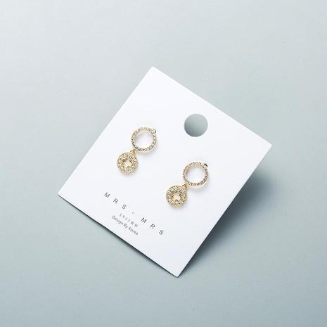 Womens Geometric Polished Copper Earrings NHWF127794's discount tags