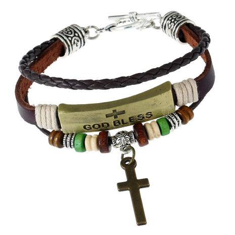 Handmade beaded cowhide Bracelets & Bangles NHPK127795's discount tags