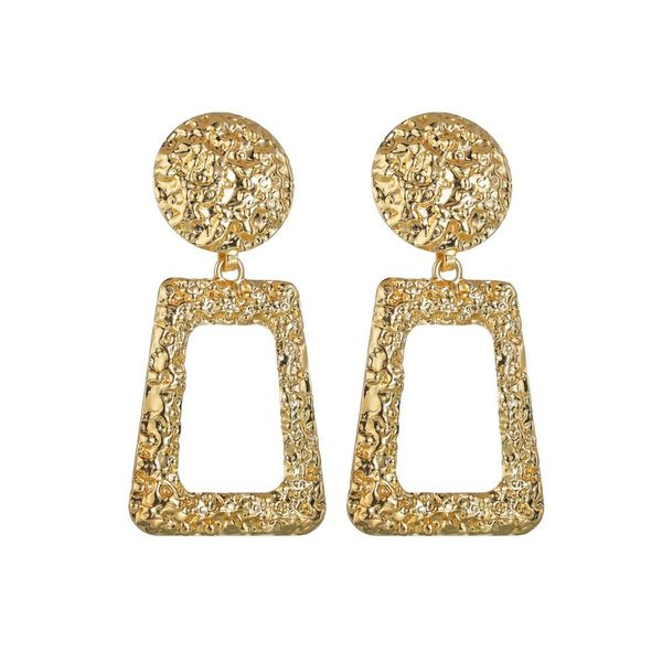 Womens Geometry Exaggerated rectangle Alloy Earrings NHBQ127798