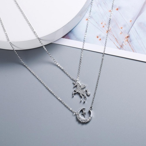 Womens Star Plating Copper Japan and South Korea Necklaces NHWF127812's discount tags