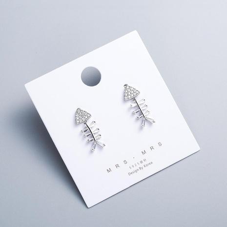 Womens 925 alloy needle copper zircon Earrings NHWF127829's discount tags