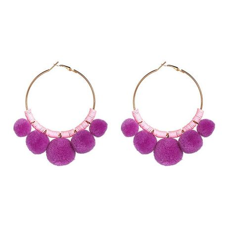 Womens Round Hand-knitted Alloy Earrings NHJJ127858's discount tags
