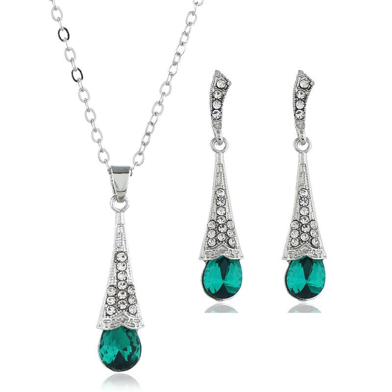 Womens Inlaid Imitated crystal Alloy Jewelry Sets NHBQ127859