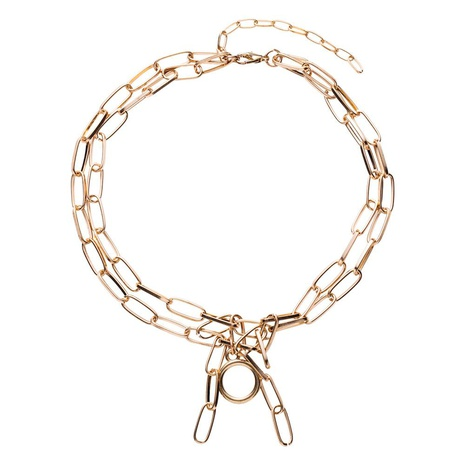 Womens geometric plating alloy Necklaces NHWF127861's discount tags