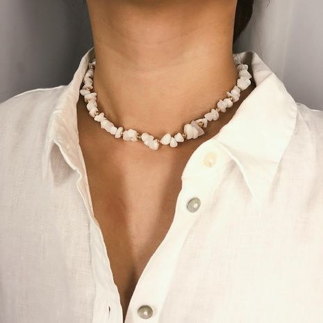 Simple transparent imitated crystal original stone single layer necklace NHXR127862's discount tags