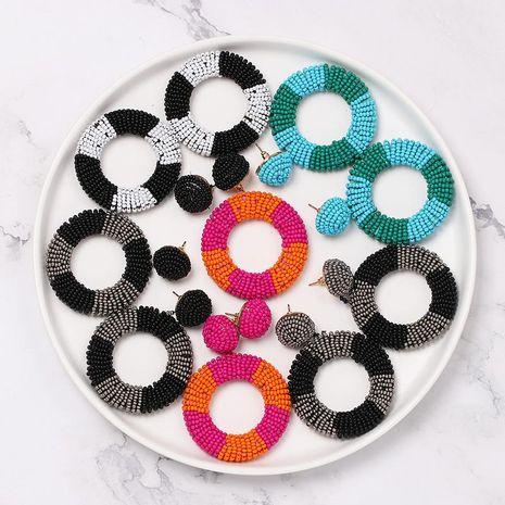 Womens Geometric Mizhu tassel Beads Earrings NHJJ127872's discount tags