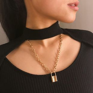 Womens geometric plating alloy Necklaces NHXR127878's discount tags