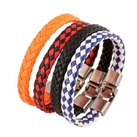Vintage woven leather Bracelets & Bangles NHPK127882's discount tags