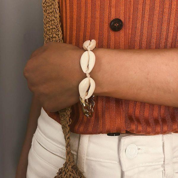 Womens Geometry  Hand-woven shells Bracelets & Bangles NHXR127885