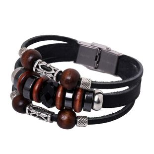 Unisex geometric leather Bracelets & Bangles NHPK127887's discount tags