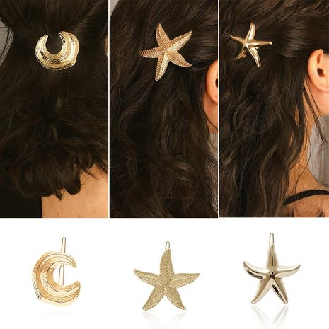 Womens Star  Moon Plating Alloy Hair Accessories NHXR127897's discount tags